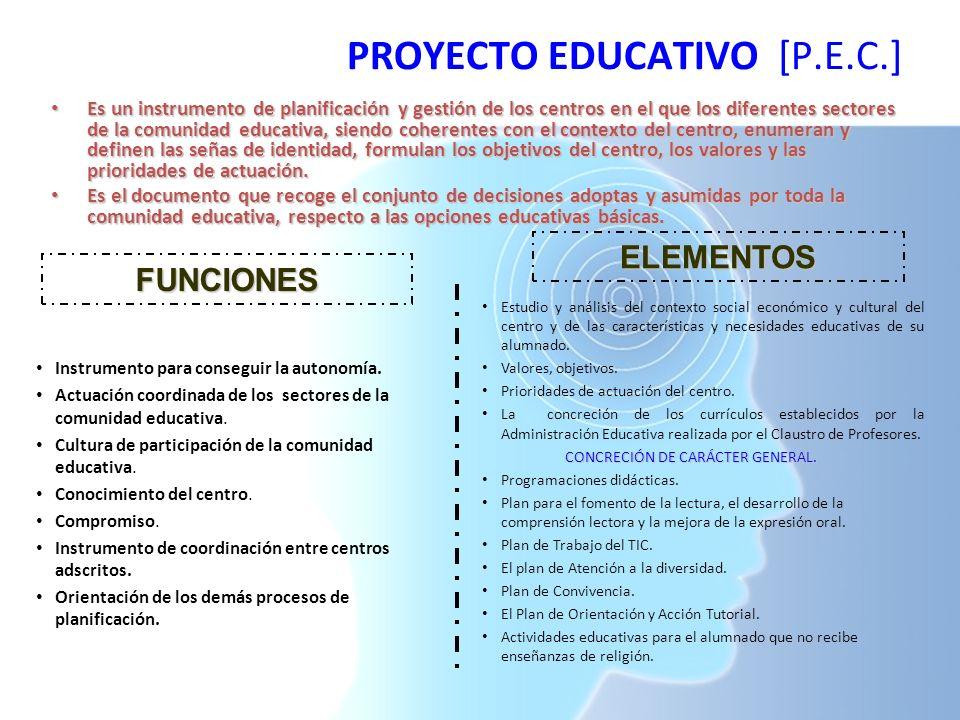 PROYECTO EDUCATIVO [P.E.C.]
